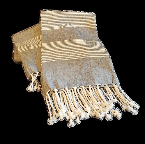 Charcoal Turkish Towel Throw