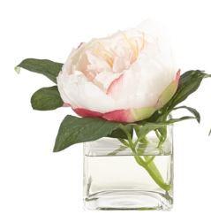 Pink & Cream Peony Bud Vase