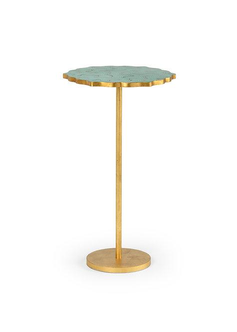Malachite & Gold Drink Stand