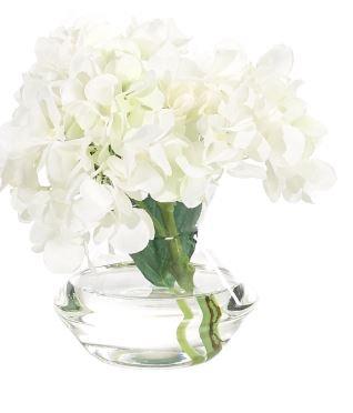 White Hydrangea Bud Vase