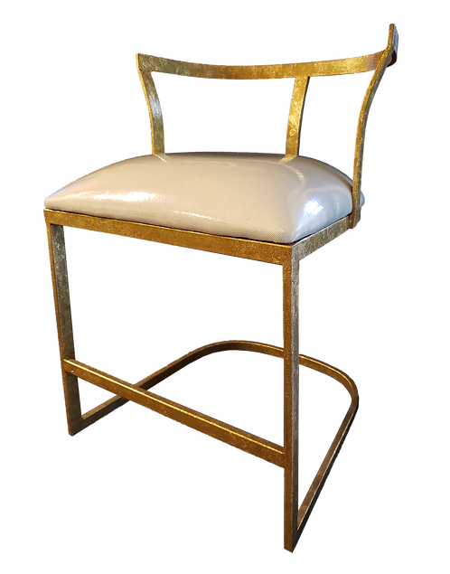 Gilded Iron Vanity Chair