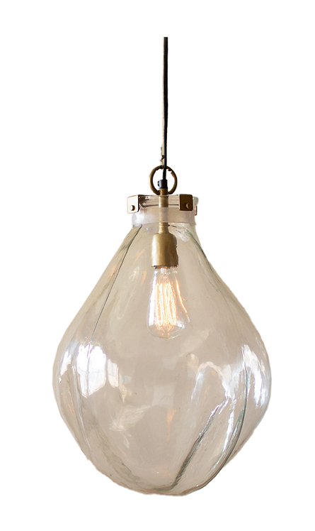 Glass Teardrop Pendant Light