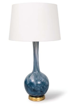 Swirled Glass Table Lamp