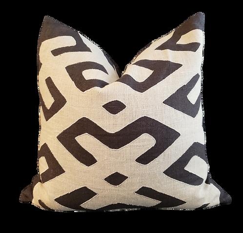 Nairobi Pillow - Black & Khaki