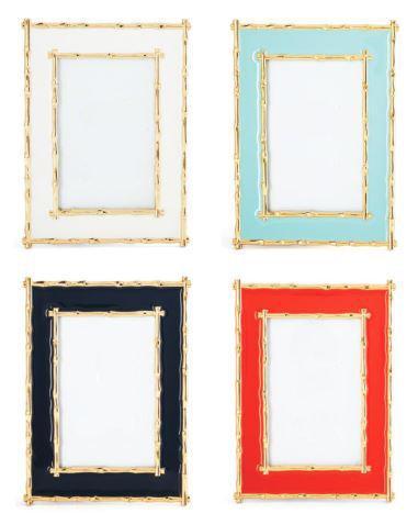 Enameled Bamboo Photo Frame