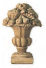 Large Statuary Fruit Compote