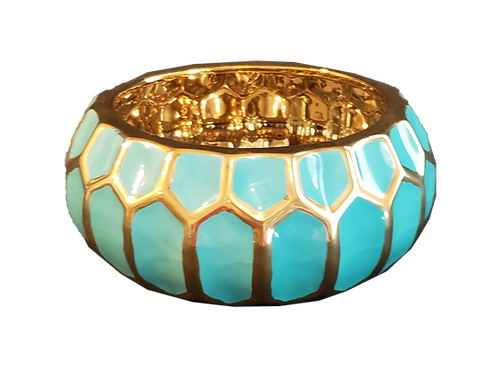 Turquoise & Gold Bowl