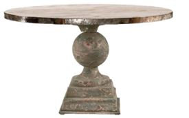 Zinc Orb Dining Table