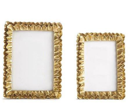 Golden Ruffle Frame