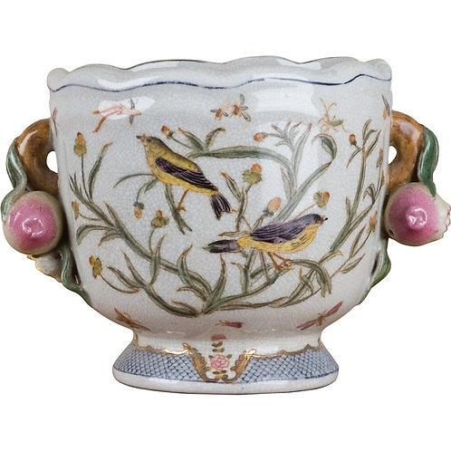 Bird & Floral Cachepot