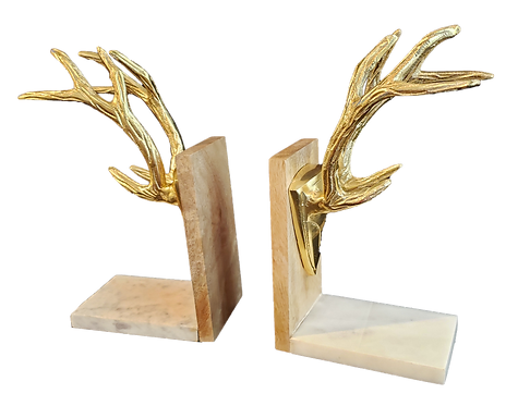 Pair of Antler Bookends
