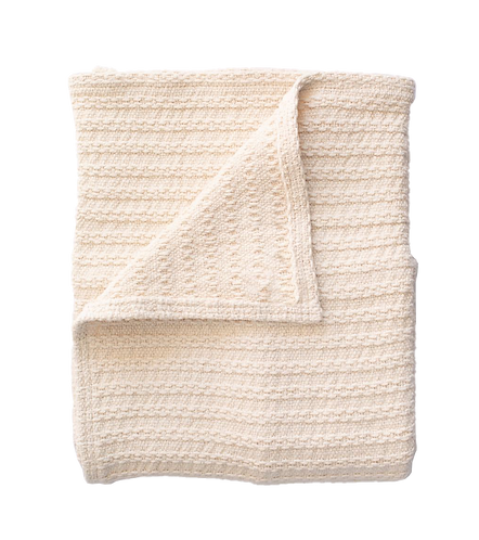 Cotton Cable Knit Throw
