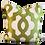 Thumbnail: Green & Gold Medallion Pillow - Pair