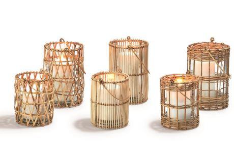 Woven Cane Lantern