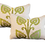 Thumbnail: Green & Taupe Vine Pillow - Pair