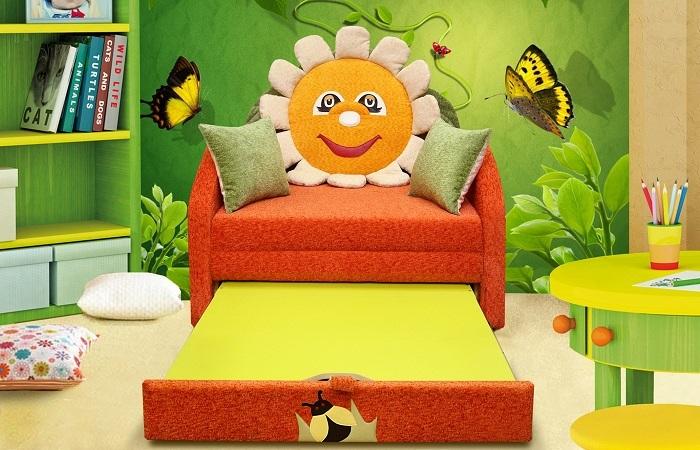 Детский диван. ящик