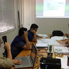 Architects at coordination meeting with other consultants