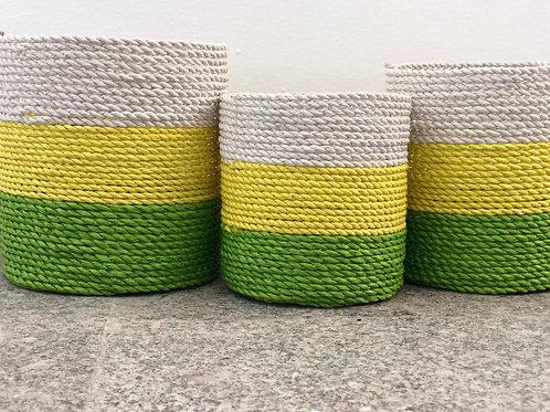 בייבי סלים ירוק צהוב לבן