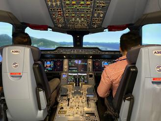 A350 Full Motion Flight Simulator FSTD L