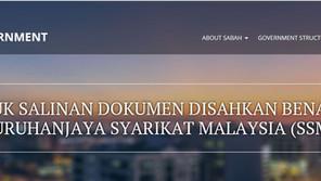 Portal Kerajaan Negeri Sabah memperkenalkan Salinan Dokumen Disahkan Benar Digital MYDATA SSM