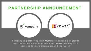 RegTech platform kompany is partnering with MYDATA+