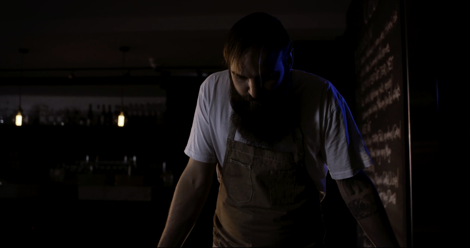 The Film Crew talks with Chef Lucas Parkinson to create the 'behind the menu' documentary