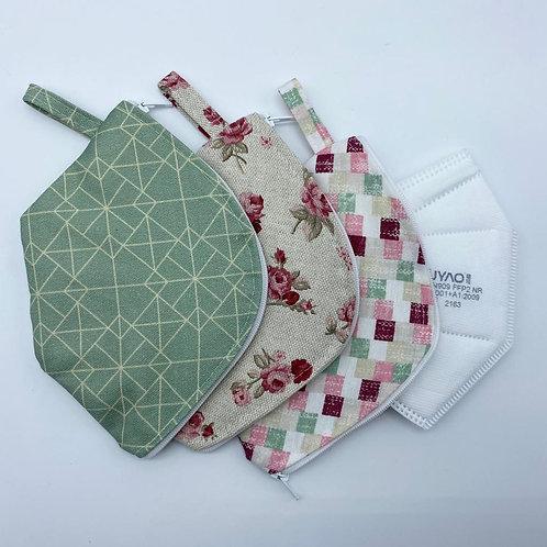 FFP-Mundmaskenhülle aus Baumwollstoff + eine FFP2-Maske, verschiedene Muster