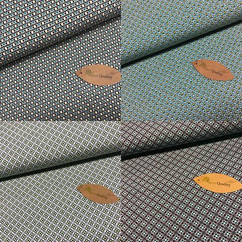 Bio-Jersey, Baumwollstoff, Organic, verschieden geometrische Muster