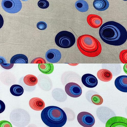 Viskosestoff, abstrakte Punkte auf grauem oder weißem Hintergrund