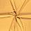 Thumbnail: Baumwollstoff, geometrisches Muster, türkis, senfgelb, beere