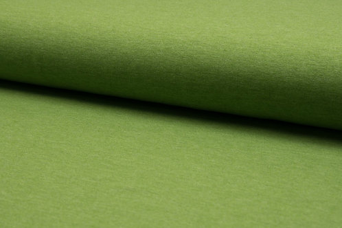 Jersey Meliert, Baumwolle, Uni, grün, petrol