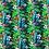Thumbnail: Baumwollstoff, Blusenstoff, Tropisches Pflanzenmuster, grün