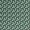 Thumbnail: Baumwollstoff, Dreiecke auf dunkelgrünem Hintergrund