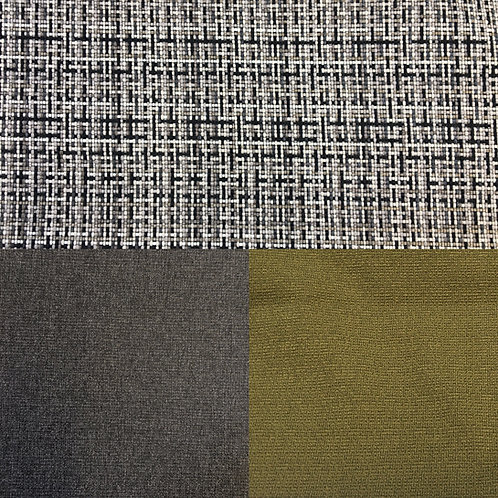 Polster-/Bezug-/Möbelstoff, Grau-Kariert, Grau oder Kaki