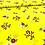 Thumbnail: Viskose, Sommerstoff, Blumen auf gelbem Hintergrund