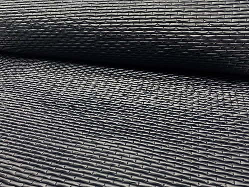 Doubleface Steppstoff, in metallic schwarz