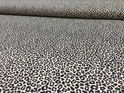 Baumwollstoff, Leopardenmuster schwarz-weiß