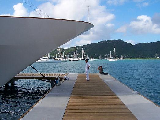 Marinas and boatyards in Antigua.