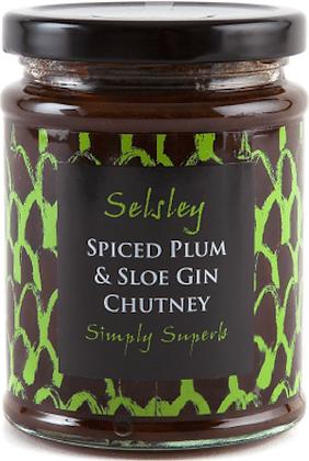 Spiced Plum Chutney with Sloe Gin