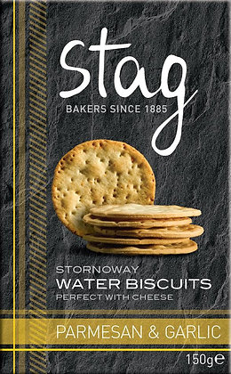 Stornoway Parmesan & Garlic Water Biscuits