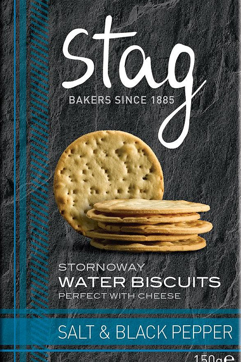Stornoway Salt & Black Pepper Water Biscuits