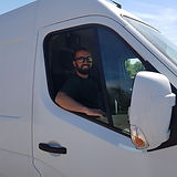 Sam in a van!