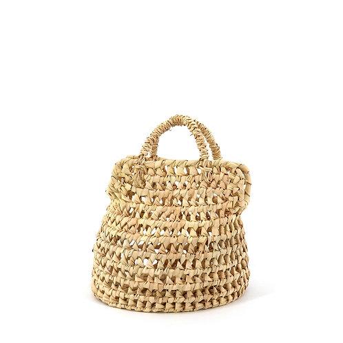 Rut 18 Palm Basket Bohemian Bag . XS . Beige