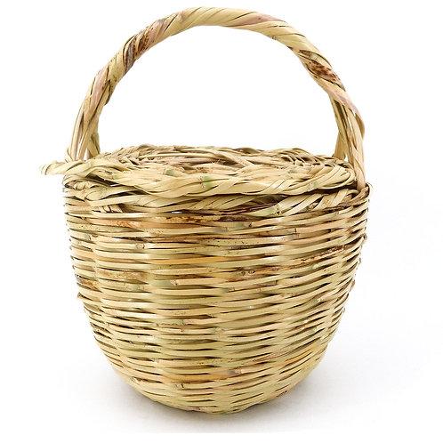 Rouven / Icone Picnic Market Basket Korb Tasche / L / Beige / Weidenkorb
