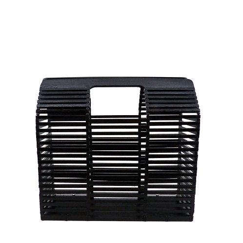 Thor Architecture Bamboo Box Bag | M | Schwarz | Bambus Korb Tasche