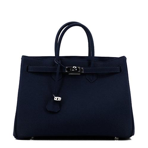 Icone 35 Leder Tasche Classic Blazer Blau . Silber