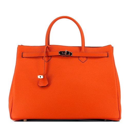 Icone 40 Leder Tasche Orange . Gold