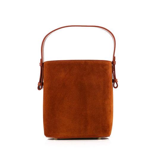 Livia 17 Leder Tote Bag . Schultertasche .Cognac Braun