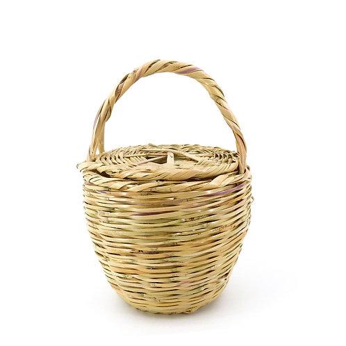 Icone Picnic Market Basket Korb Tasche / S / Beige / Weidenkorb