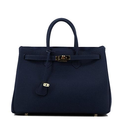 Icone 35 Leder Tasche Classic Blazer Blau . Gold